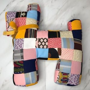 Vintage quilted patchwork dog pillow